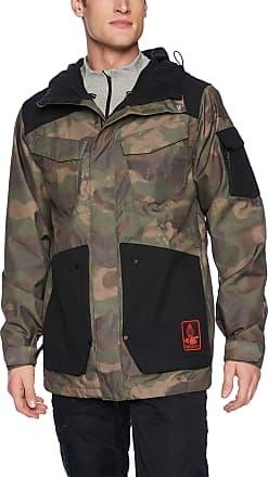 Volcom Mens VCO Inferno 2 Layer Stretch Snow Jacket Insulated, Camouflage, Medium
