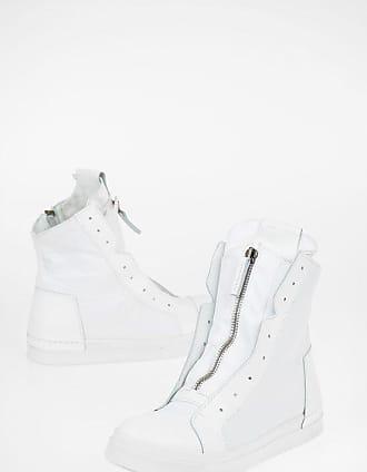 Cinzia Araia high-top sneakers in tessuto con dettagli in pelle taglia 45