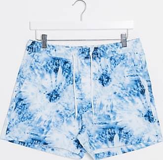 Brave Soul Pantaloncini da bagno dip-dye in coordinato-Blu