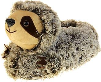 Footwear Studio Womens Dunlop Christmas Novelty Slippers Sloth, 3/4 UK, Brown Sloth