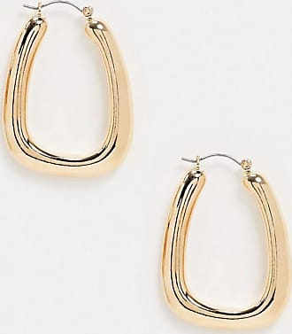Topshop chunky earrings in gold oval