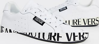 Versace Jeans Couture trainers with logo sole in white