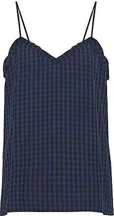 844506b4fe1c8f Tibi Tibi Woman Gingham Flannel Camisole Navy Size 10