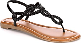 Xappeal Womens Akia - Braided Ankle Strap Sandal Shoe Black Size: 9 UK