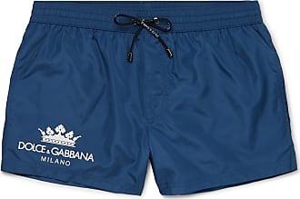 3a180b4cbb Dolce & Gabbana Logo-print Short-length Swim Shorts - Navy