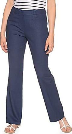 NEU Übergröße elegante Damen Jersey Stretch Hose d.blau Marlene Style Gr.50,54