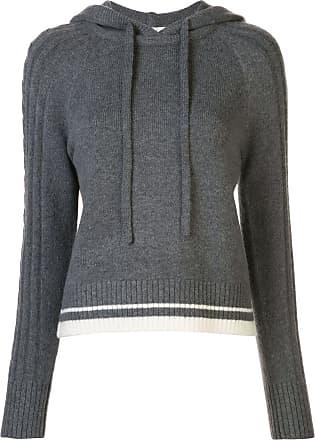 Duffy Suéter de cashmere e tricô com capuz - Cinza