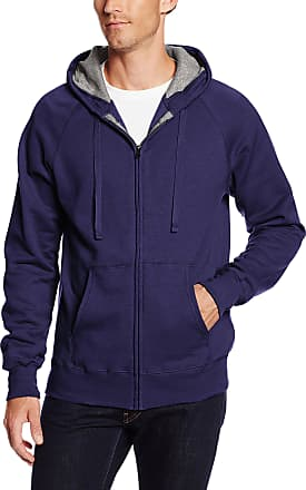 Hanes Mens Full Zip Nano Premium Lightweight Fleece Hoodie, Vintage Navy, XX-Large