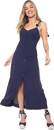 Dress To Vestido Dress to Midi Botões Azul-marinho