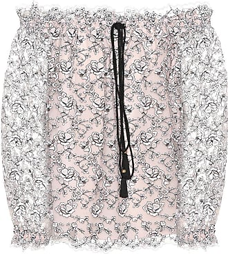 Philosophy di Lorenzo Serafini Embroidered off-the-shoulder top