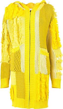Koché Cardigã com patchwork - Amarelo