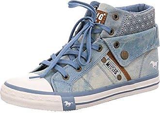 69fff7023cbf36 Mustang Shoes High Top Sneaker in Übergrößen Blau 1146-514-88 große  Damenschuhe