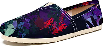 Tizorax American Jazz Singer Mens Slip on Loafers Casual Canvas Shoe Flat Boat Shoes