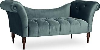 Skyline Furniture Mystere Velvet Fabric Chesterfield Loveseat (Mystere Jade)