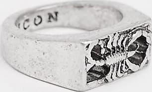 Icon Brand Anello con sigillo e scorpione argento