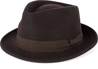 Hat To Socks Brown Wool Trilby Hat with Grosgrain Band Handmade in Italy