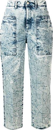 Stella McCartney Calça jeans reta com efeito enrugado - Azul