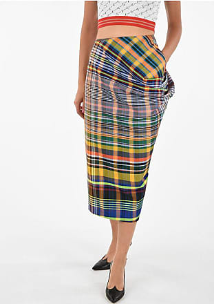 Dries Van Noten Checked Asymmetrical Skirt Größe 40