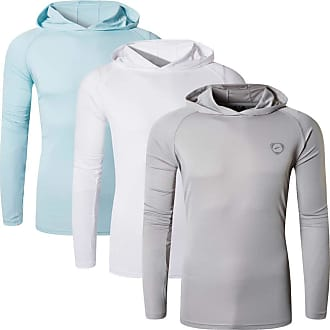 Jeansian Mens 3Pack UPF 50+ Sun Protection Hoodie Long Sleeve Performance Hiking Running Fishing T-Shirt Tee Shirt Tshirt LA271_PackF_M
