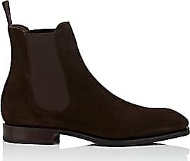4e9beff01db Carmina Shoemaker Mens Suede Chelsea Boots - Dk. brown Size 14 M
