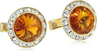 Stacy Adams Stacy Adams Mens Gold Dark Topaz Crystal Rondell Cuff Link, One Size