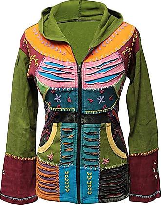 SHOPOHOLIC FASHION Slashed Hippy Embroidered Festival Gypsy Funky Boho Jacket