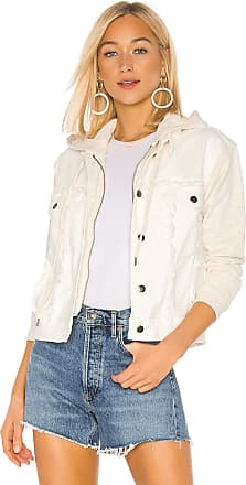 Splendid Jesse Mix Media Jacket in Off White
