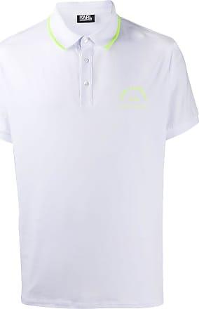 Karl Lagerfeld neon trim polo shirt - Branco
