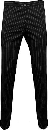 Relco Mens Pinstripe Sta-Press 70s Mod Trousers Size 34 Black