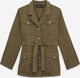 The Kooples Smart khaki jacket with belt and pockets - WOMEN