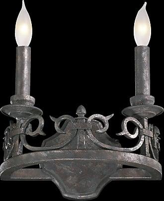 Quorum Lorenco 2 Light Wall Bracket in Spanish Silver