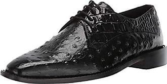 Stacy Adams Mens Russo Ostrich Print Lace-Up Oxford Black 14 M US