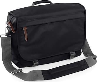 BagBase Bagbase Campus Padded Laptop Compatible Messenger Bag (One Size) (Black)