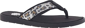 Yellow Box Densel Womens Sandal 8 B(M) US Silver-Leopard