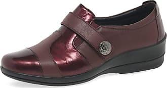 Padders Endure Womens Multi Panel Wide Fit Casual Shoes 6 UK/ 40 EU Plum Combi
