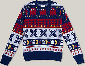 Brava Fabrics Herren Pullover - Herren Nomad Pullover - Jacquard Pullover - PAC-MAN x Brava