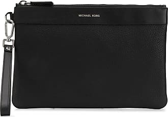 Michael Kors logo printed clutch bag - Black