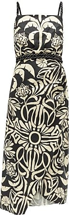 Johanna Ortiz Stylised Muse Floral-print Linen-blend Midi Dress - Womens - Cream Multi