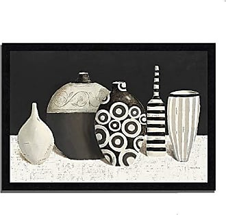 Tangletown Fine Art Objet dArt Framed Art, Black/White