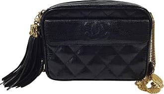 Chanel Rare Vintage Black Lizard Multi Gold Chain Camera Evening Shoulder  Bag ecfa911b60478
