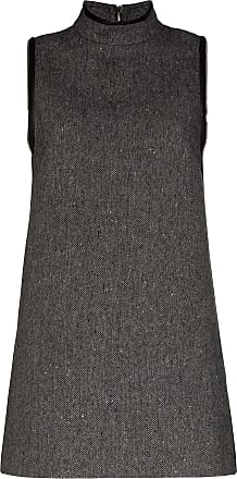 We11done Herringbone A-line mini dress - Black