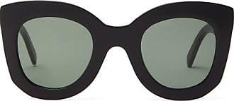 Celine Oversized Round Acetate Sunglasses - Womens - Black