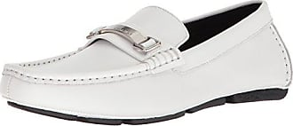 Calvin Klein Mens Maddix Driving Style Loafer, White, 7 M US