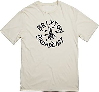 1dd57887 Brixton Mens Broadcast Short Sleeve Premium Fit Tee, Off Off White, L