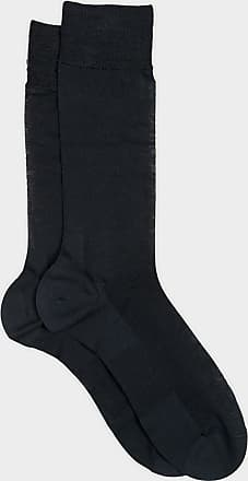 ZD Zero Defects Zero Defects dark grey mercerized cotton knee socks