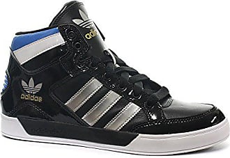 cheap for discount 37538 e4d26 adidas Adidas Originals Hohe Schnürsenkel Turnschuhe Sneakers - Schwarz   Metallisch Silber  Weiß  Blau