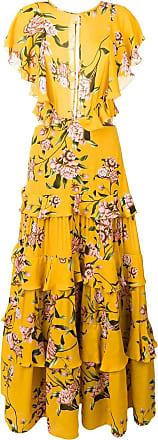 Johanna Ortiz Vestido com estampa floral - Amarelo