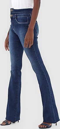 Sawary Calça Jeans Sawary Flare Recortes Azul
