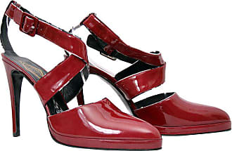 d6718f15df57 Versace New Versace Atelier Burgundy Red Patent Leather Platform Shoes 41 11