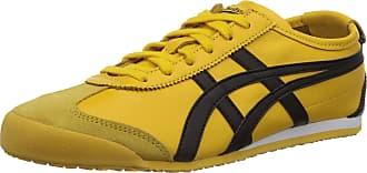 Onitsuka Tiger Onistuka Tiger Mexico 66, Unisex Adults Low-Top Sneakers, Yellow (Yellow/Black 490), 8.5 UK (43.5 EU)
